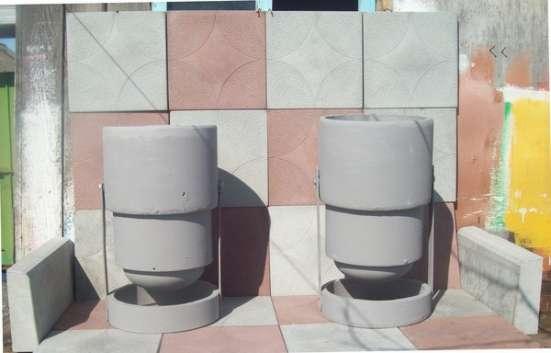 Вазоны бетонные- малый, средний, большой