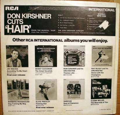 "The Don Kirshner Concept – Don Kirshner Cuts ""Hair"" в Санкт-Петербурге Фото 3"