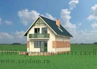Строительство двухэтажного кирпичного дома 6,6x9,9 в Москве Фото 1