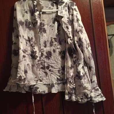 Блузка белая клеш рукава