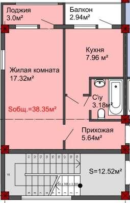 ПРОДАМ 1-к на этапе строительства от застройщика!