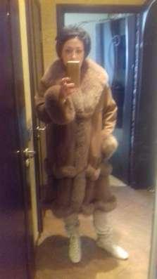 Пальто кожанное с меховым акцентом52/54 в Москве Фото 1