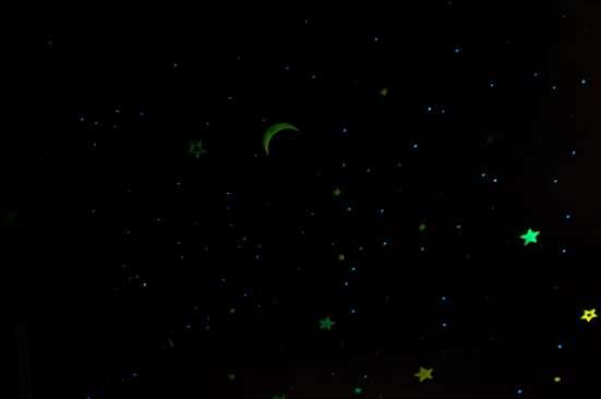 Гостиничный номер с изображением звездного неба