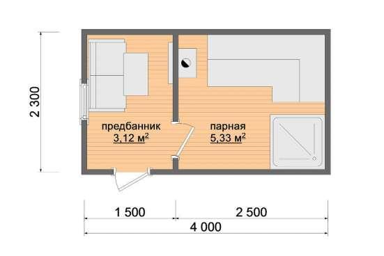 Баня ГОТОВАЯ ПЕРЕВОЗНАЯ (мобильная) «Казачка 1» в Москве Фото 1