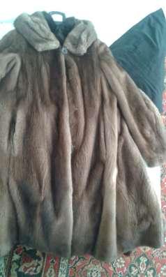 Продам норковую некрашеную шубу, размер 44-50