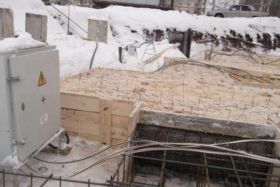 Прогрев бетона (электродами, шнурками, проводами)