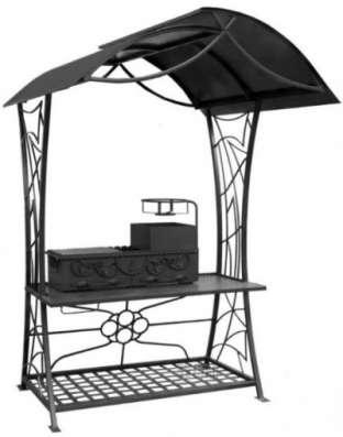 Кованый мангал с крышей МС-96