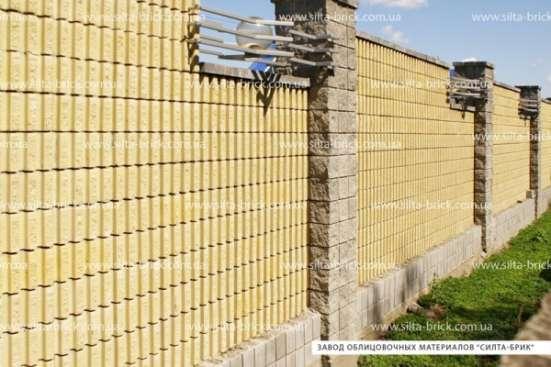 Блок декоративный канелюрный угловой (заборный) «Силта-Брик»