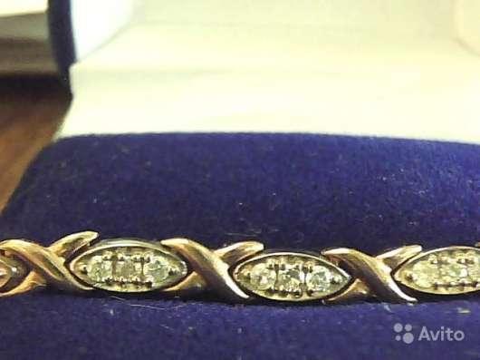 Браслет золото 585 бриллианты