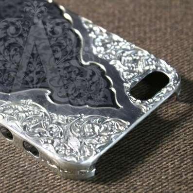 Серебряный корпус для IPhone ручной работы в Москве Фото 3