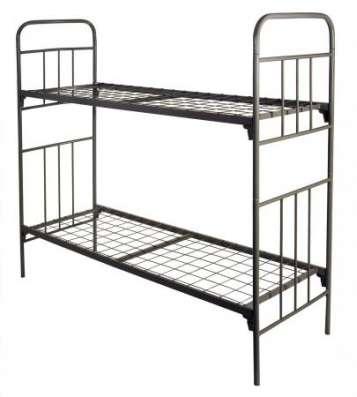 Кровати металлические двухьярусная, для больниц, металлические кровати с ДСП спинками, кровати для бытовок, кровати оптом, От производителя. в Сочи Фото 2