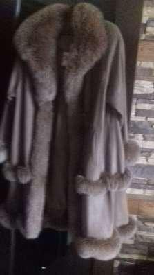 Пальто кожанное с меховым акцентом52/54
