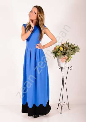 Длинное синее платье ZEAN (Польша). Новое