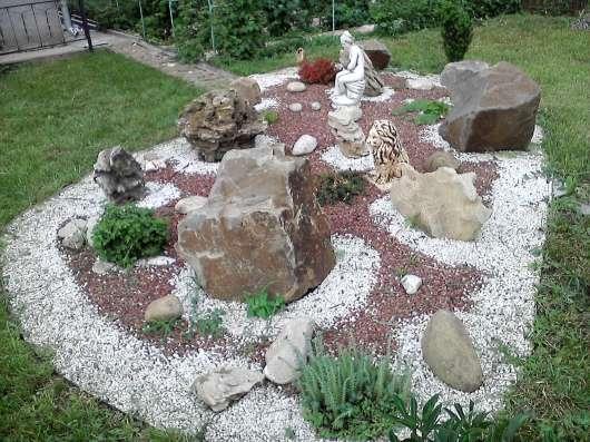 Природный камень для ландшафта. Корни дерева