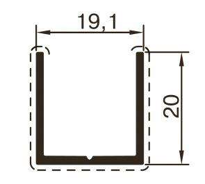 Алюминиевый профиль для сантехнических перегородок