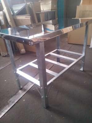 Столы из нержавеющей стали на оцинкованном каркасе