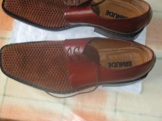 Мужские кожаные ботинки элитного бренда BRAUDE Италия в Москве Фото 3