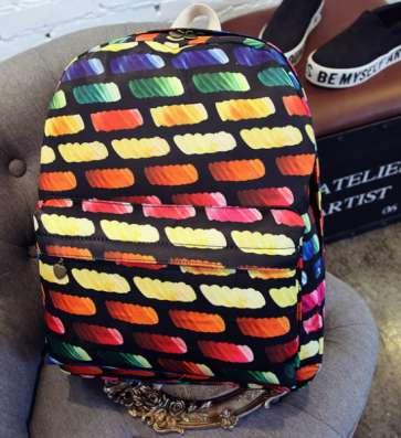 Рюкзак городской Bricks разноцветный цветной