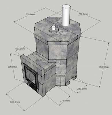 """Банная печь """"Аты-Баты""""с полностью чугунной топкой (АТБ-4)"""