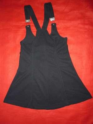 Стильный чёрный сарафан