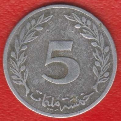 Тунис 5 миллимов 1960 г.