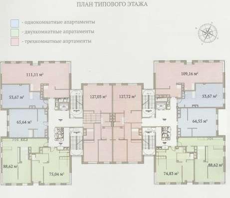 Апартаменты 91.2 м2 в элитном комплексе «Гороховский 12»