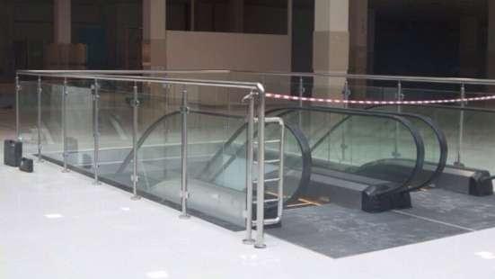 Перила со стеклом из нержавеющей стали в Уфе Фото 1