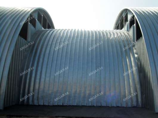 Продажа арочных бескаркасных ангаров в г. Шымкент