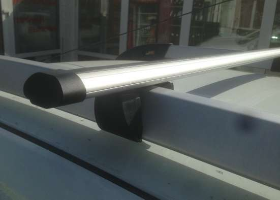 Багажник на крышу Рено Дастер 2015г (высокий рейлинг)