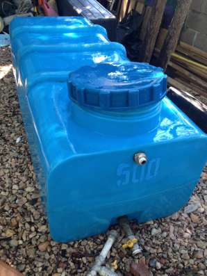 Бак для воды 500л горизонтальный б/у с арматурой
