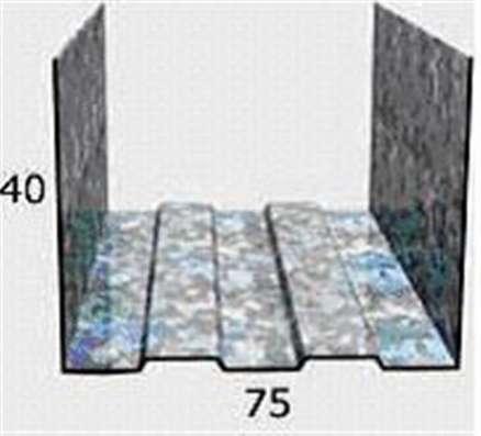 Профиль Албес ПН 75х40, 0,55мм, 3-хметровый