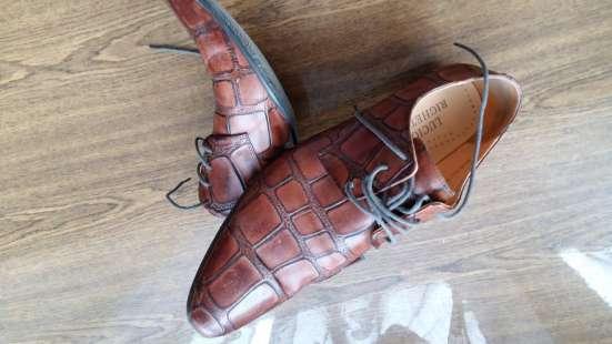 Туфли кожаные. Lucio Righertto.тиснение под крокодила.43 р-р в Краснодаре Фото 2