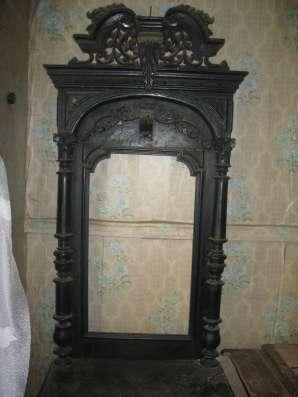 Старинноекупеческое  зеркало.Дуб.Резьба