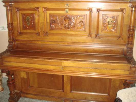 Старинное немецкое пианино(антиквар),коричн. цвета с инкруст в Перми Фото 3