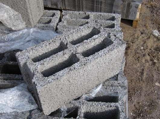 Блок керамзитобетонный, бетонный, фундаментный