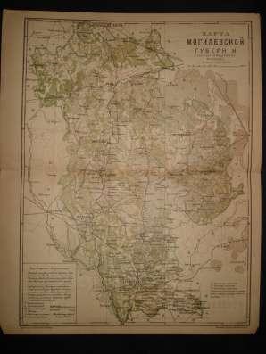 Карта Могилевской губернии. 1896