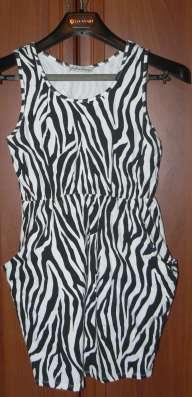 Платье-Туника Зебра размер 42 есть карманы на стройную девуш
