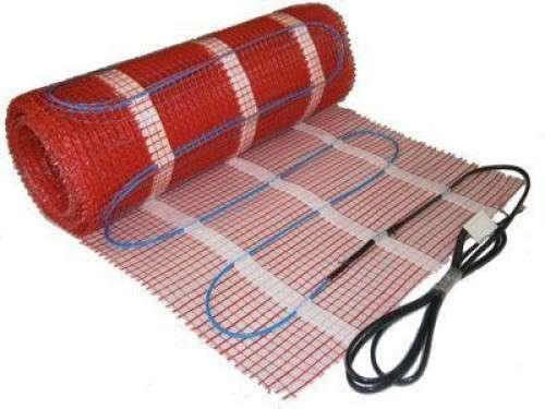 Теплый пол под плитку - нагревательные маты.