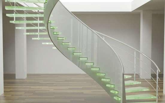 Стеклянные перила для лестниц, лестницы в г. Караганда Фото 5