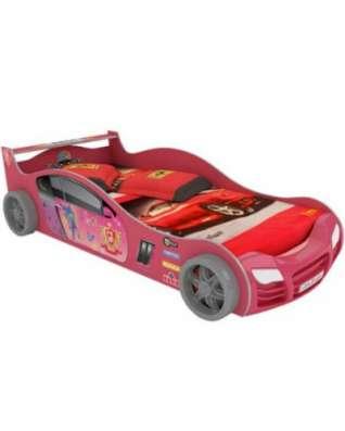 Кровать-машинка розовая R800E Мини без п