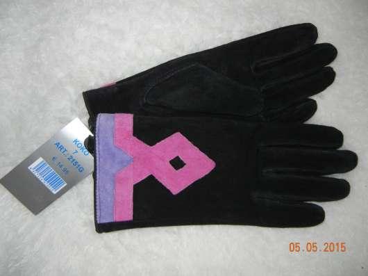 Замшевые дамские перчатки
