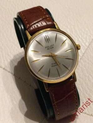 Часы POLJOT De Luxe, позолота, ручной завод, 1970-е г. г