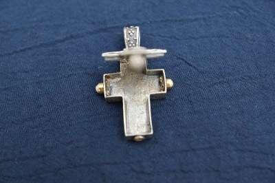Крест-мощевик с массив. серебряной цепью Мастер Димитриос