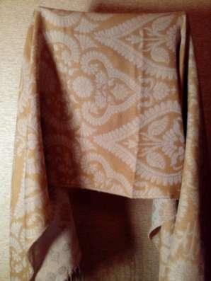 шарф-палантин двухсторонний, коричневый в Санкт-Петербурге Фото 5